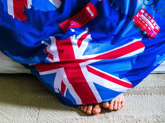 Better in than out... BabelFishEye From My Point Of View Blanket Unionjack Union Jack Toes Remain Gimme A Smile Funny Close-up Close Up