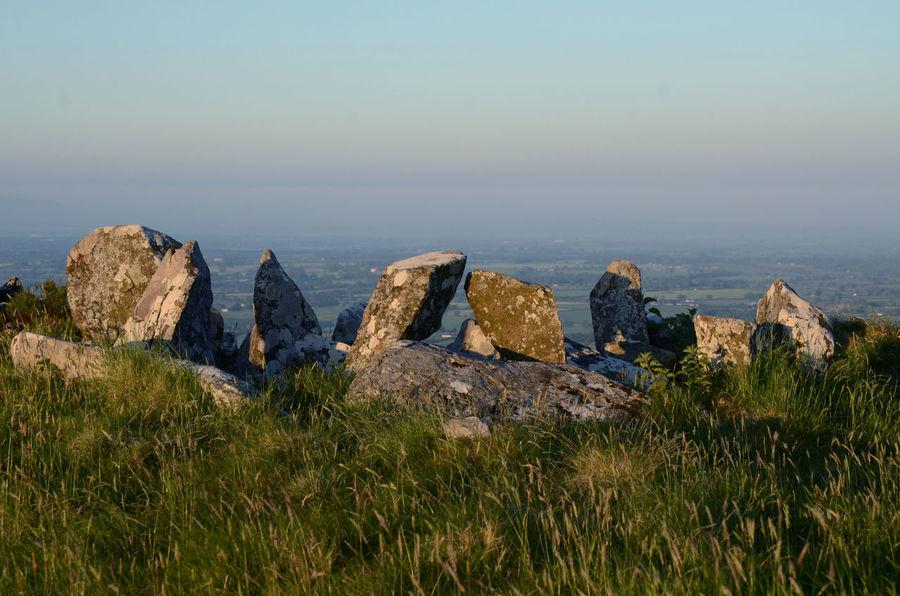 Early Morning Hilltop Neolithic Stones Standing Stones Sunrise Light
