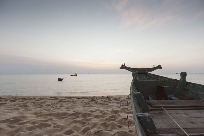 ASIA Beach Beachphotography Boat Boats Evening Evening Sky Horizon Over Water Island Islandlife Nautical Vessel Old Boat Sand Sea Shore Tranquil Scene Travel Travel Destinations Travel Photography Vacation Vietnam Wanderlust Water