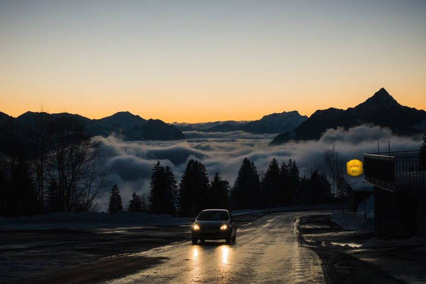 Sea Of Fog The Great Outdoors - 2018 EyeEm Awards Sunset Road Travel Beauty In Nature