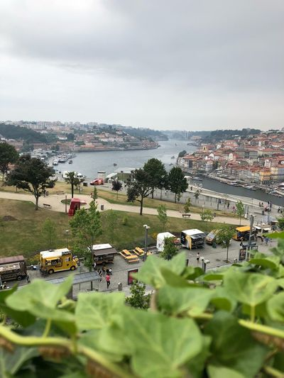 Douroriver Douro  Portugal Oporto Porto Water Sky Architecture Nature Built Structure Building Exterior City Plant No People Cloud - Sky Day Cityscape Focus On Background