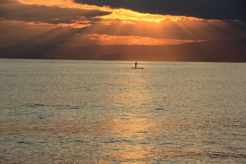 Atmosphere Atmospheric Mood Beach Beautiful Nature Light Paddlesurf Sea Seascape Sunset Sunset Silhouettes Sunset_collection Surf Tranquil Scene Tranquility