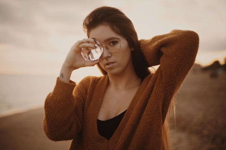 Woman Sunset Beach Light Gemstones Gemstone  Gem Girl Calm Sad & Lonely Sadness darkness and light