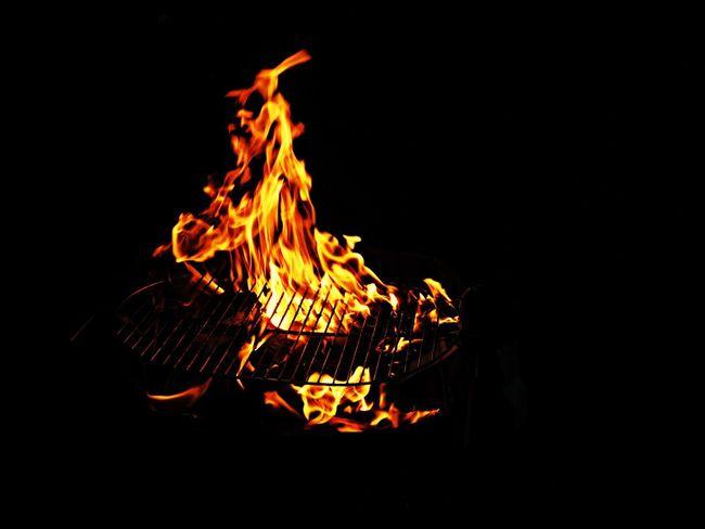 Fire BBQ Red Night Lights