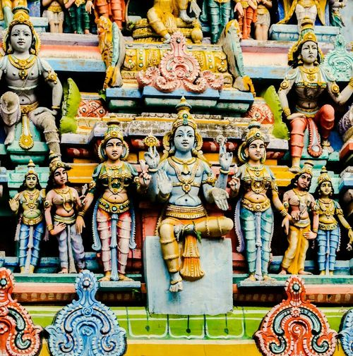 Ornate structure of a temple in south of India Human Representation Male Likeness Cultures Religion Statue Place Of Worship No People Sculpture Spirituality Day Outdoors Close-up Architecture Travel India Incredibleindia Place Of Worship Artmaking Travel Destinations Art