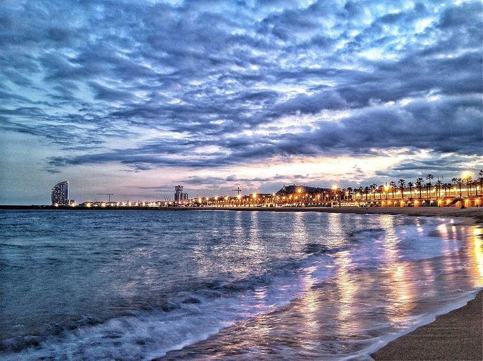 Beach Barcelona #sunset #sun #clouds #skylovers #sky #nature #beautifulinnature #naturalbeauty #photography #landscape Barcelonacitizen Point
