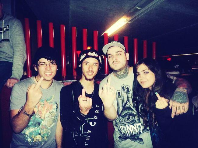 that time i met Frankie Palmeri :3 Metal Emmure  Concert Band