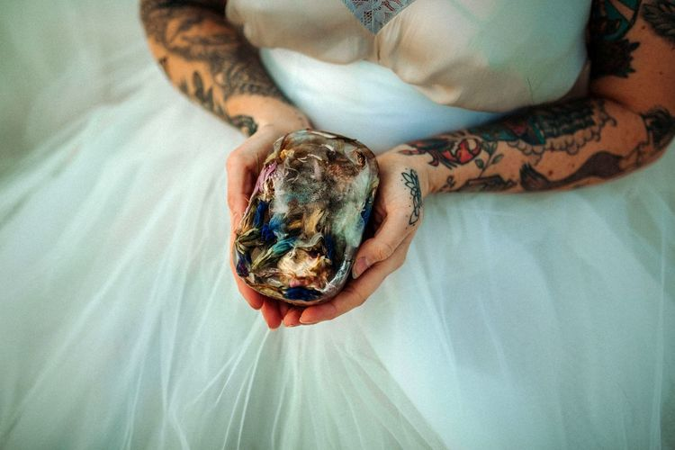 frozen flower Human Hand Relaxation High Angle View Multi Colored Close-up Tattoo First Eyeem Photo