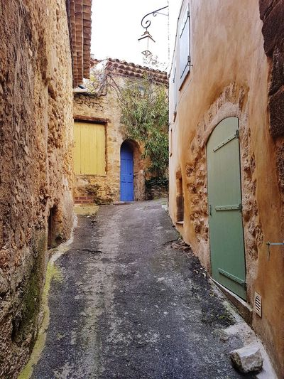 Stone Lourmarin Luberon Colourful Provence Door Architecture Building Exterior Built Structure Entryway Passageway