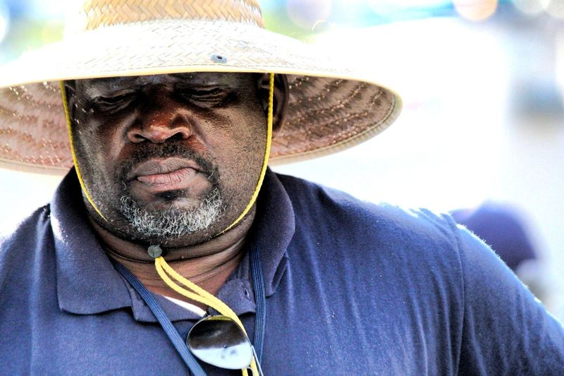 Working. California sun. African American Man Hat Portrait Headshot Looking At Camera Men Front View Close-up Head And Shoulders The Portraitist - 2018 EyeEm Awards