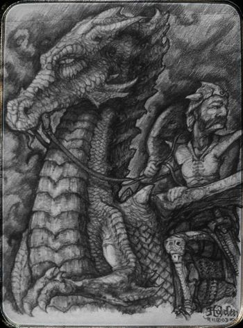 """""""Me and my dragon"""" A small window into my roots... Have a warm and fuzzy day friends! 🎇 Check This Out Graphite Art Drawings Art, Drawing, Creativity Dragons Fantasy World"""