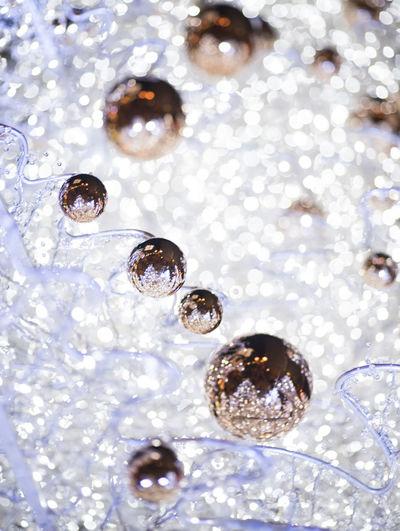 Christmas Christmas Lights White Christmas Tree Christmas Ornament Elégance Golden Ornaments Luxury Shiny Wealth White Gold