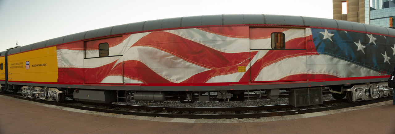 Flag Panorama Patriotism Railroad Train Transportation Union Pacific Union Pacific Railroad