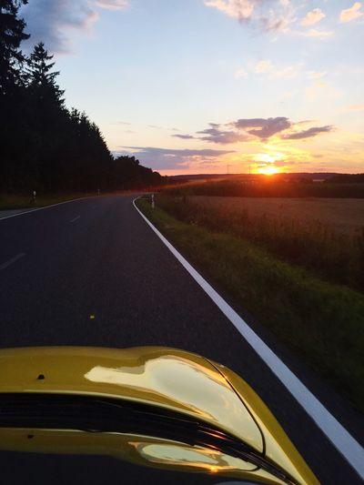 MG  MGF Sunset Cabrio Sonnenuntergang Cars Automobile Auto
