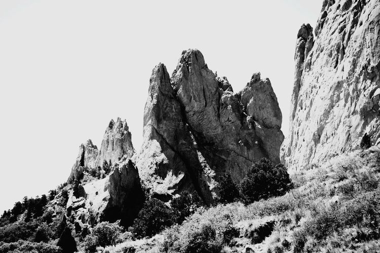 Garden of the Gods 2 Black And White Blackandwhite Photography Colorado Rocks Travel Rocky Mountain S Outdoors Day No People Low Angle View Sky Nature Close-up