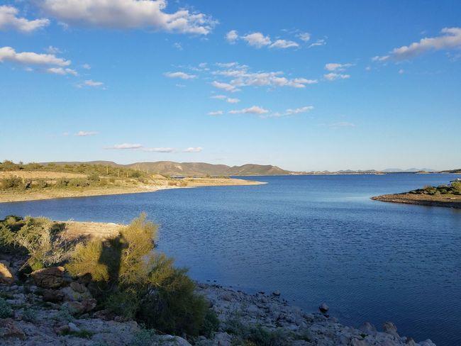 Scenics Outdoors Sky Day Water Lake Arizona Desert Deserts Around The World Desert Mountains Beauty In Nature Lakeshore Nature Pleasant