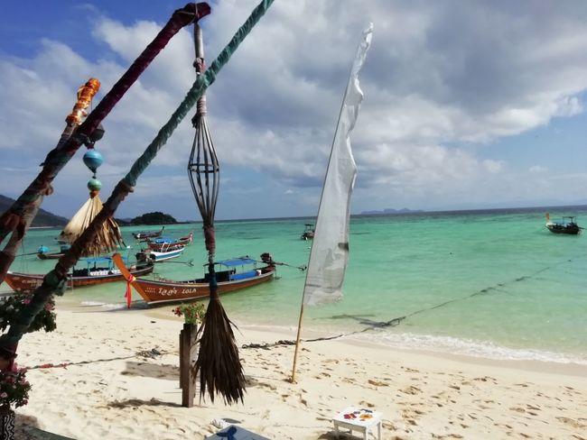 Water Nautical Vessel Sea Tree Beach Beauty Sand Sky Horizon Over Water Cloud - Sky