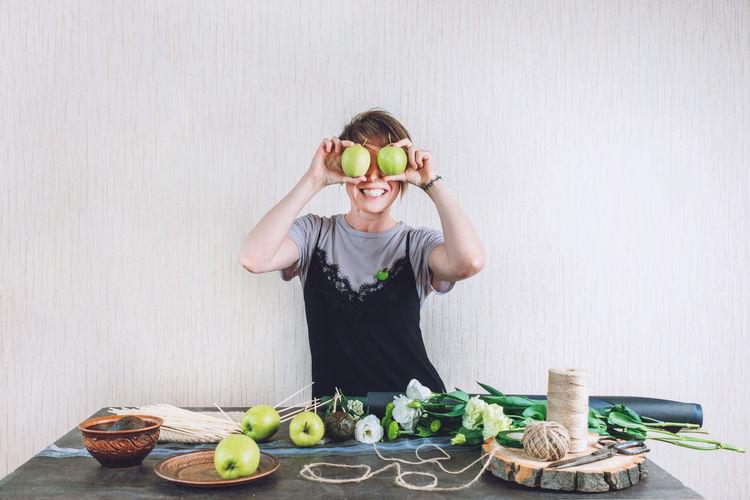 Man wearing mask in bowl