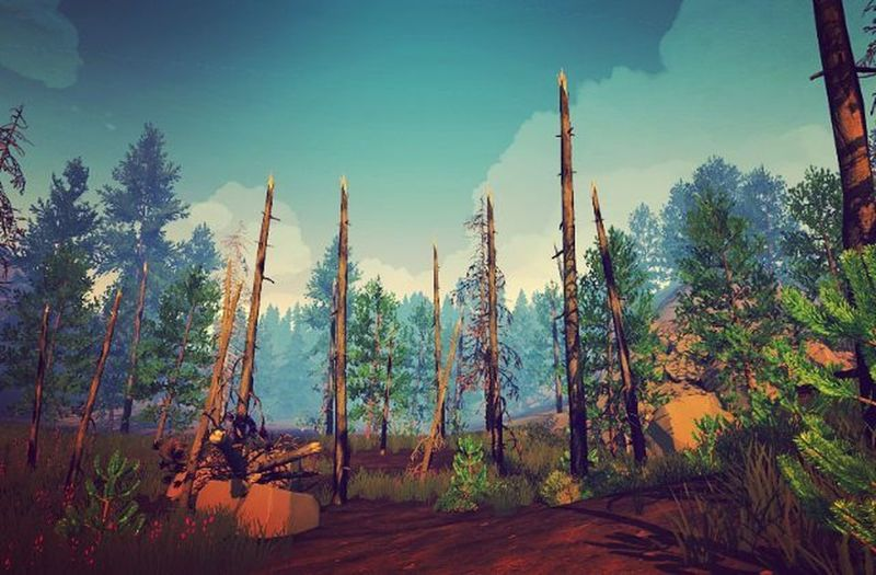 Firewatch Game Screenshot Gaming Videogames Games Game Nerd Picoftheday Videogame  Landscape Photography Lovely Lovelyday Xbox Xbox360 Instagram Travel Traveldiaries Instagamer Instapic Lifeisgood Herewego PCGaming IGN kotaku pcgamer geek amazing captures forest