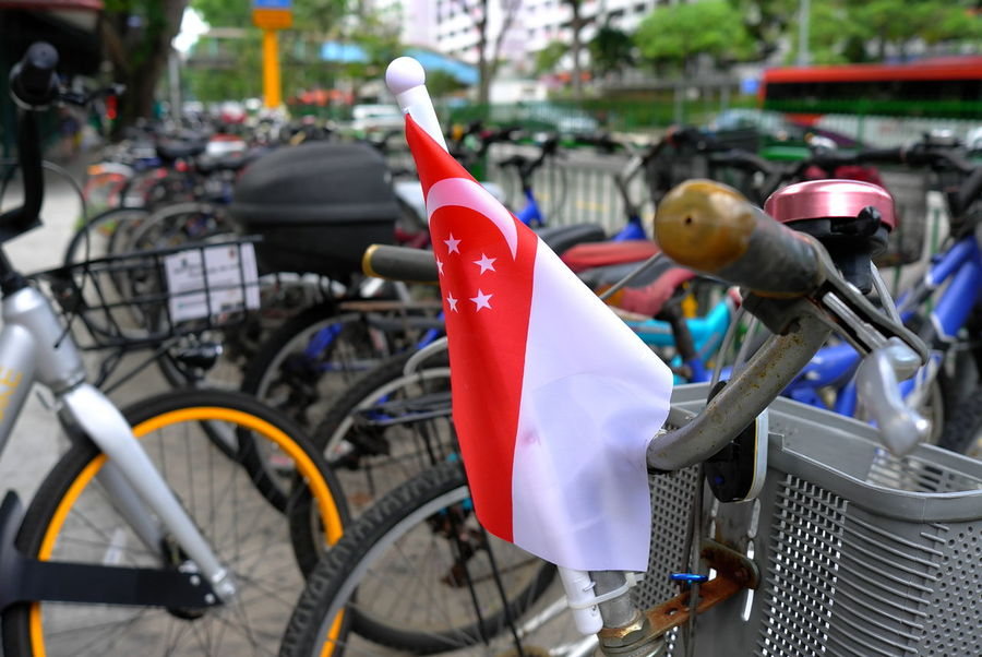 NDP 2017 National Day Parade 2017 Singapore National Day Parade 2017 Bicycle Close-up Day Land Vehicle Mode Of Transport No People Outdoors Singapore Flag Stationary Transportation