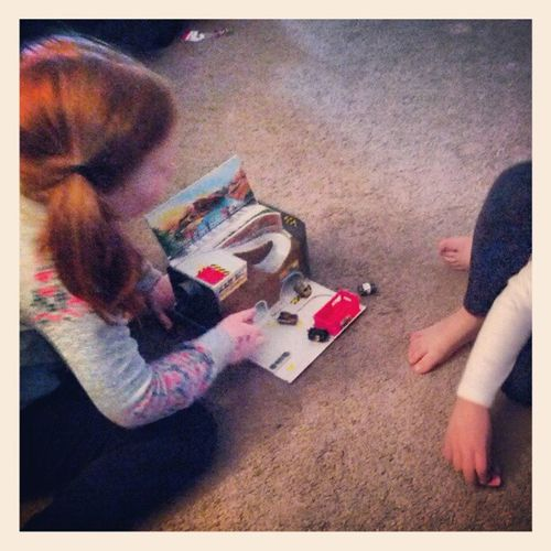 The girls playing with my toys from when I was their age... Micromachines 80sKid 90sToys Awesomedaughters