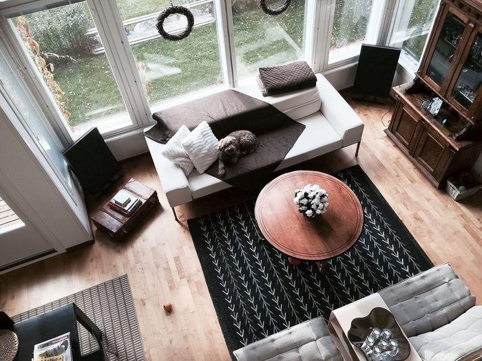 High Angle View Of Living Room