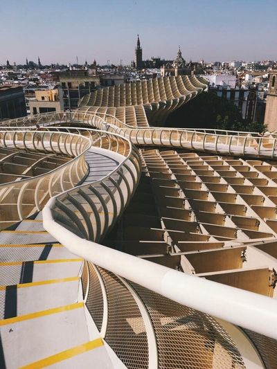 Connected By Travel Architecture Built Structure High Angle View History Day Outdoors Building Exterior No People City Travel Destinations Seat Stadium Sky Sevilla Seville