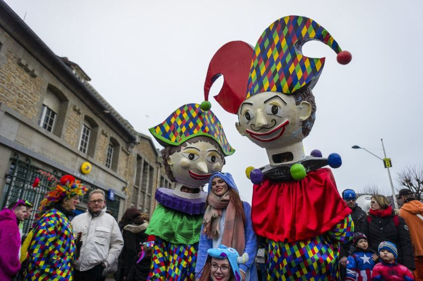 Carnival Crowds and Details France Normandie Art And Craft Clowns Costume Day Granville Multi Colored Normandy Outdoors Real People Traditional Festival