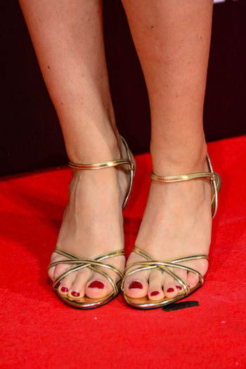7 años/years Netflix photocall Madrid 2016 Close Up Editorial  Feet Human Body Part Human Leg Legs Low Section Nailpolish One Person One Woman Only People Red Red Carpet Red Toes Sandels  Shoe Shoes Standing Straps Toe Toes Woman