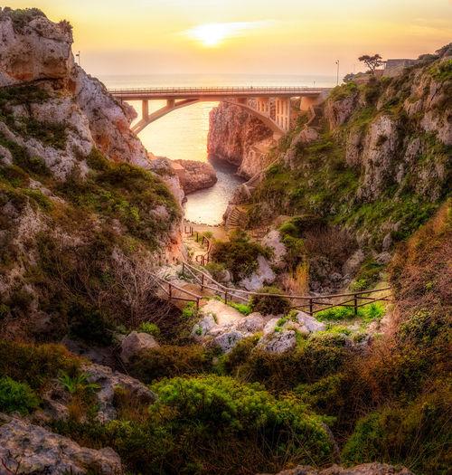 Once for every season Italia Landscape_Collection Panorama Puglia Sale Bridge Ciolo Gagliano Italy