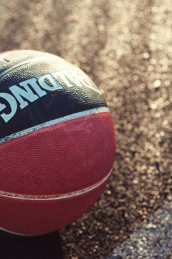 Basketball Basketball Sport Text Close-up Ball Focus On Foreground Sports Equipment Western Script High Angle View Communication Selective Focus Outdoors Brown Red Still Life American Football - Sport No People Day American Football - Ball Land Nature