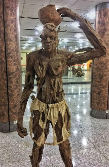 Dakar One Person Representation Indoors  Architecture Human Representation Creativity Front View Art And Craft Sculpture Built Structure Statue Clothing Real People History Male Likeness Day Costume