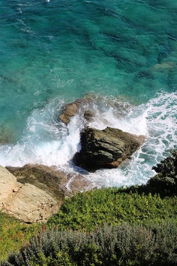 Go down... look great. Water Nature Sea Beauty In Nature High Angle View Beach No People Motion Wave Day Outdoors Power In Nature Grass