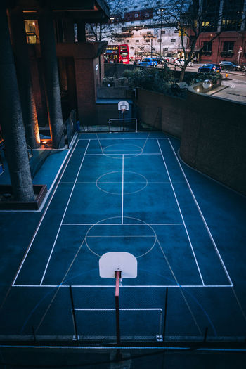 Open Edit OpenEdit WeekOnEyeEm Architecture Basketball - Sport Basketball Hoop Building Exterior Built Structure Canon Canon_official Canon_photos Canonphotography City Court High Angle View Illuminated Night No People Open Outdoors Sport Week On Eyeem