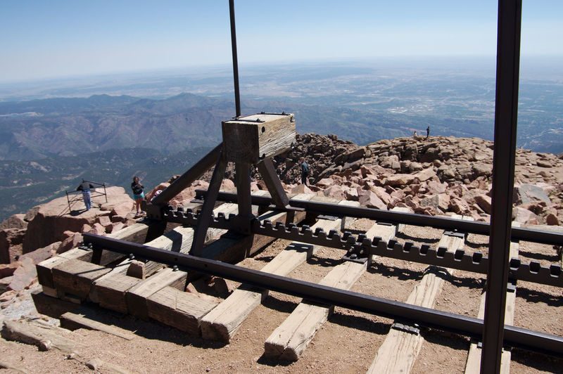 end of the line Railroad Railroad Track End Of The Line Highaltitude Highaltitudephotography Pikes Peak Pikes Peak In Colorado Beauty In Nature Rocky Mountains Observation Point Scenics Tranquility