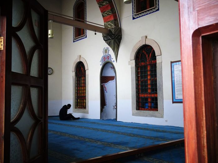 Muslim Place Of Worship Animal Themes Arch Architecture Building Exterior Built Structure Day Door Indoors  Mammal No People Window
