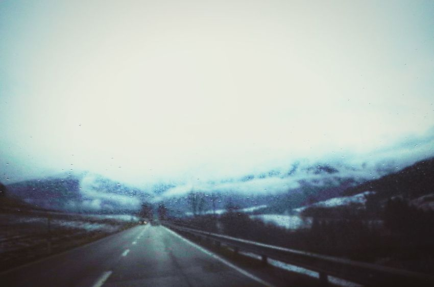 Blurry Vision Deep Winter Remote Location Winter Miles Away Country Cold Temperature Road The Way Forward Country Road Driving Road Headlights Lo-fi Adventure Drops Windshield Clouds Foggy Day On The Road Dolomites South Tyrol Südtirol