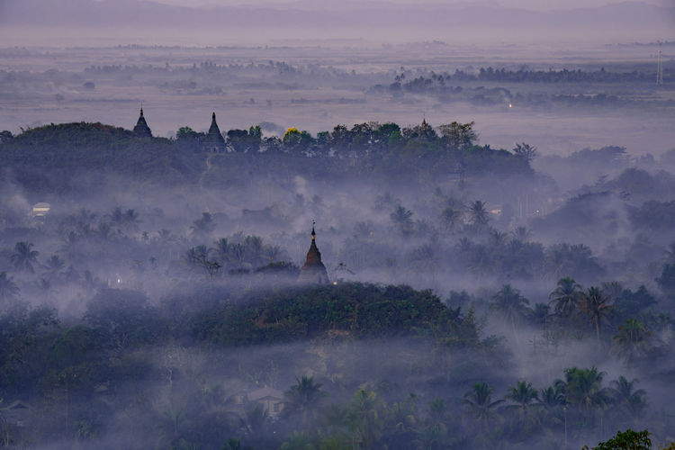 Architecture Beauty In Nature Belief Building Exterior Built Structure Environment Fog History Nature No People Outdoors Place Of Worship Plant Religion Scenics - Nature Sky Spirituality Tranquil Scene Tranquility Tree