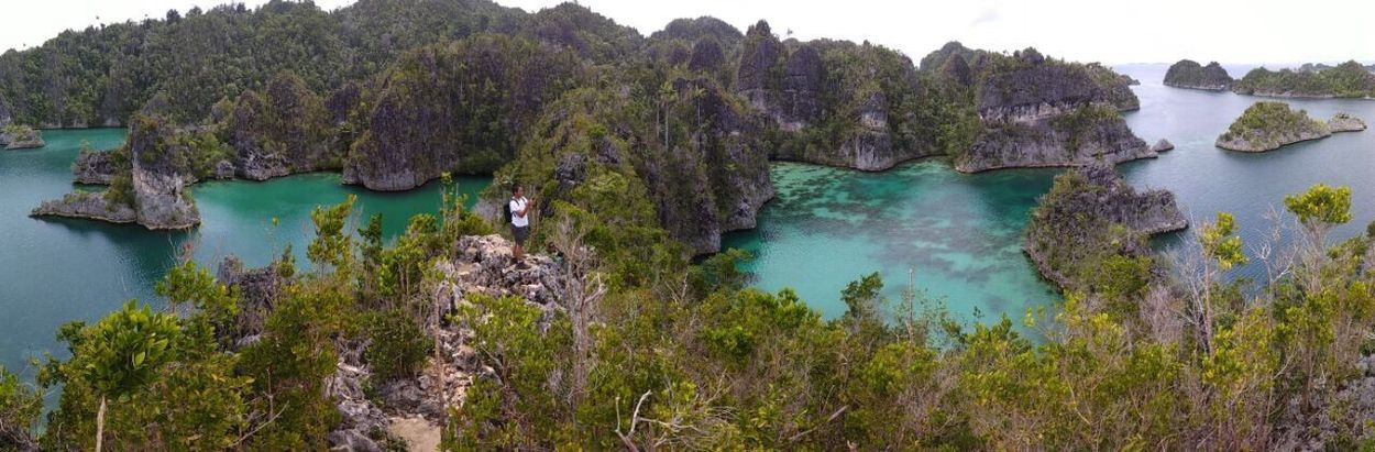 Lost In The Landscape Papua Water Island Panorama