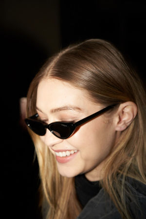 Gigi Hadid after Versace show. Milano Fashion week, February 2018 Fashion Gigi Hadid Show Versace Versace Show Beauty Gigi Hadid Mfw Milan Fashion Week Style Sunglasses