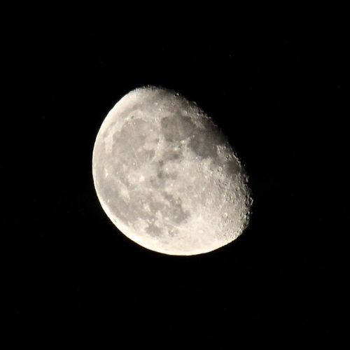 Moon in clear