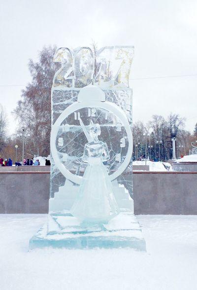 Snow Winter Tomsk Region ледовыефигуры