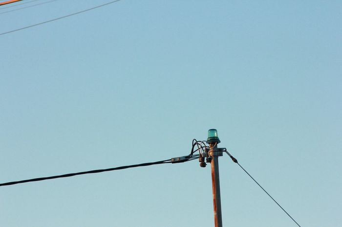 Blue Sky Bluesky Cable Clear Sky Connection Day Electricity  Kabel Low Angle View Man Made Object Nature No People Outdoors Perching Power Line  Power Supply Sky Wire Wires In The Sky