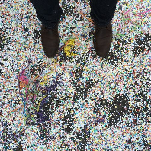 Party Confetti Paper From Above  View From Above Folklore