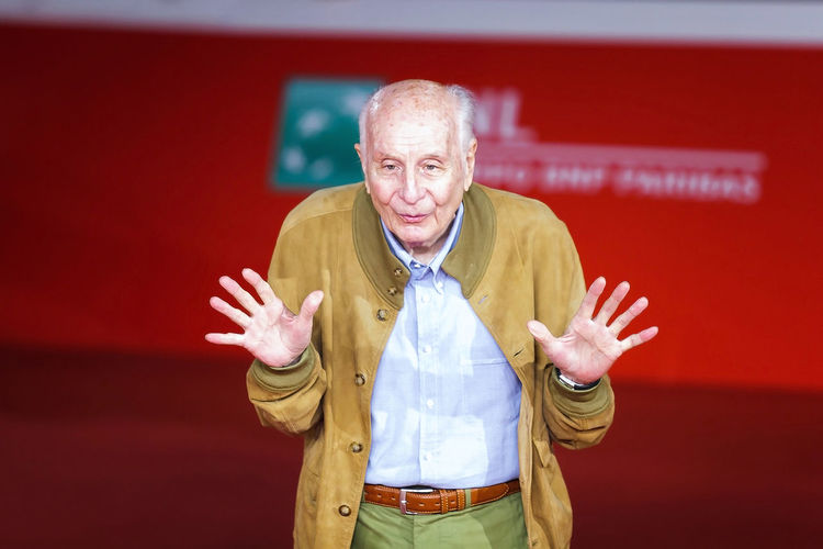 Rome, Italy - October 16, 2016: Folco Quilici walk a red carpet for 'The Rolling Stone Ole Ole Ole!: A trip Across Latin America' during the 11th Rome Film Festival at Auditorium Parco Della Musica Arts Culture And Entertainment Celebrities Event Folco Quilici One Man Only One Person People Red Red Carpet Rome Film Fest Senior Adult Senior Men