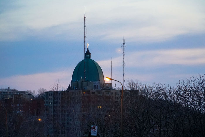 Architecture Bare Tree Building Exterior Built Structure Day Dusk Mont Royal Outdoors Sky St Joseph