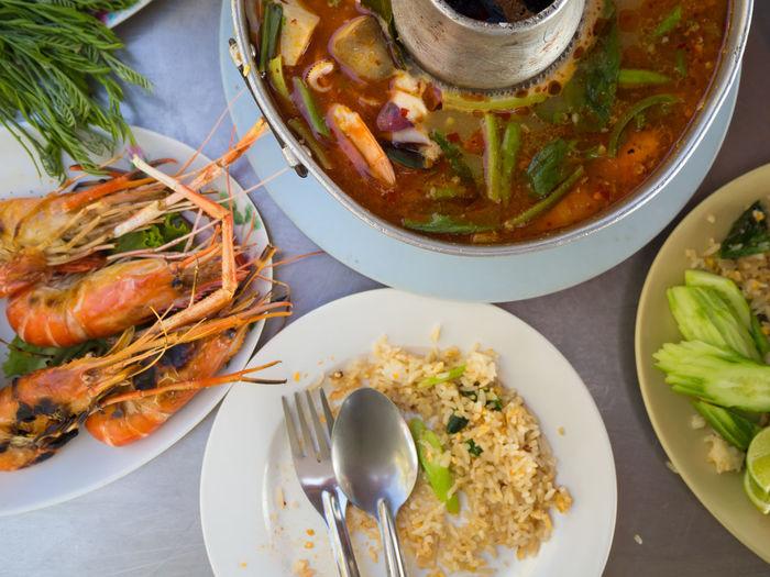 Tomyum Tom Yum Seafoods Eating Eat Spicyfood Spicy Prawn Shrimps Delicious Foodporn Thai Thailand Seafood