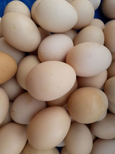 Full frame shot of eggs for sale
