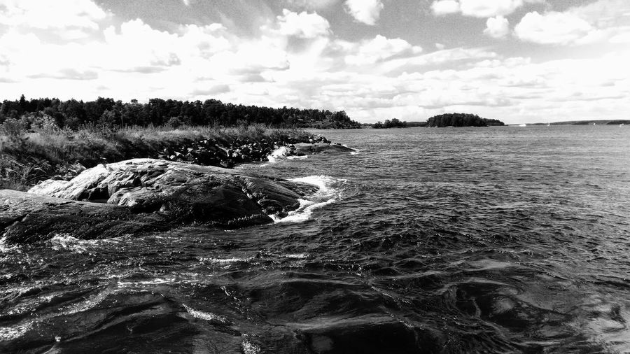 Showcase July 2017 EyeEm Selects 2017 Juli Niklas Sweden Stockholms Skärgård Cloud - Sky Beach Sky Water No People Outdoors Nature Sand Sea Breathing Space Beauty In Nature The Week On EyeEm Been There. Black And White Friday