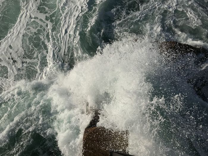 Wave Power In Nature Force Water No People Beauty In Nature High Angle View Outdoors Nature Splashing Day
